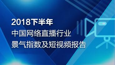 2018下半年中國網絡直播行業景氣指數及短視頻報告